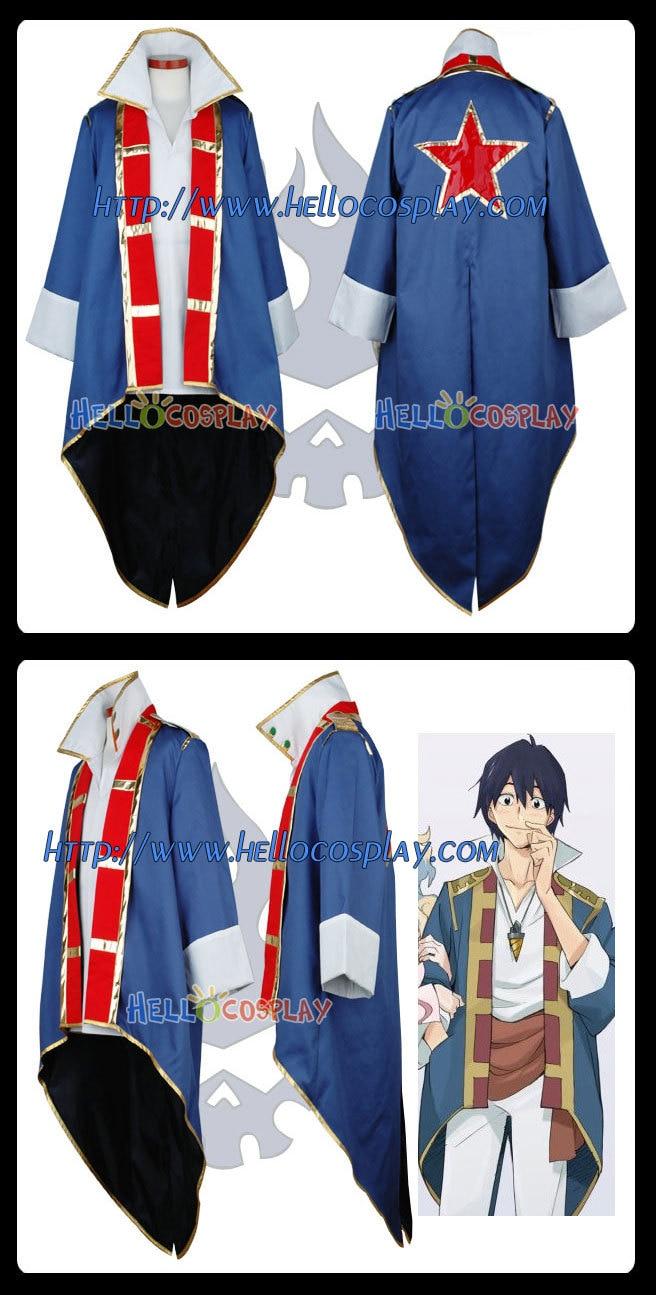 Japanese Anime Outfit Tengen Toppa Gurren Lagann Cosplay Simon Costume H008