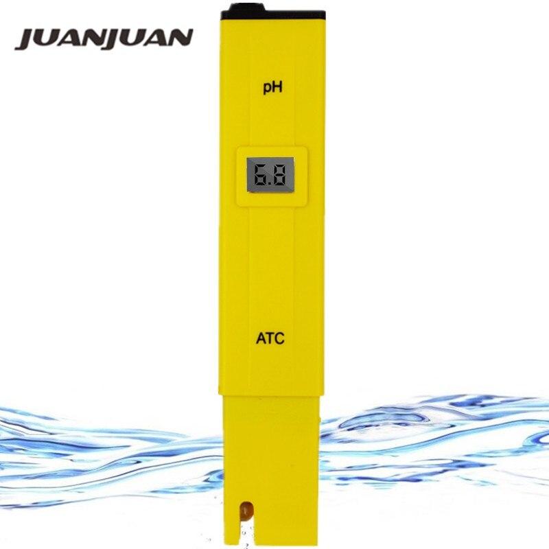 10pcs Pocket LCD Digital PH 0 14 Tester Meter Pen Type Aquarium PH Pool Water Measure