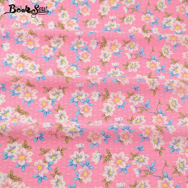 Booksew Cotton Poplin Fabric Lovely Floral Pink Fat Quarter Meter Crafts  Shirt Childrenu0027s Bed Sheets Pillows