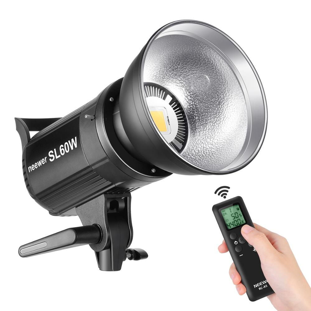 Neewer SL 60W LED Video Light White 5600K Version, 60W CRI 95+, TLCI 90+ with Remote Control and Reflector, Continuous Lighting