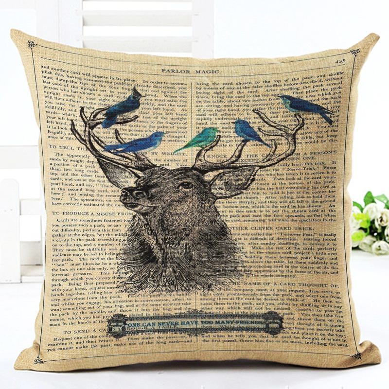 High Quality Car Printed Cotton Linen Blackout Curtain: Home Decor Text Background Antelope Printed High Quality
