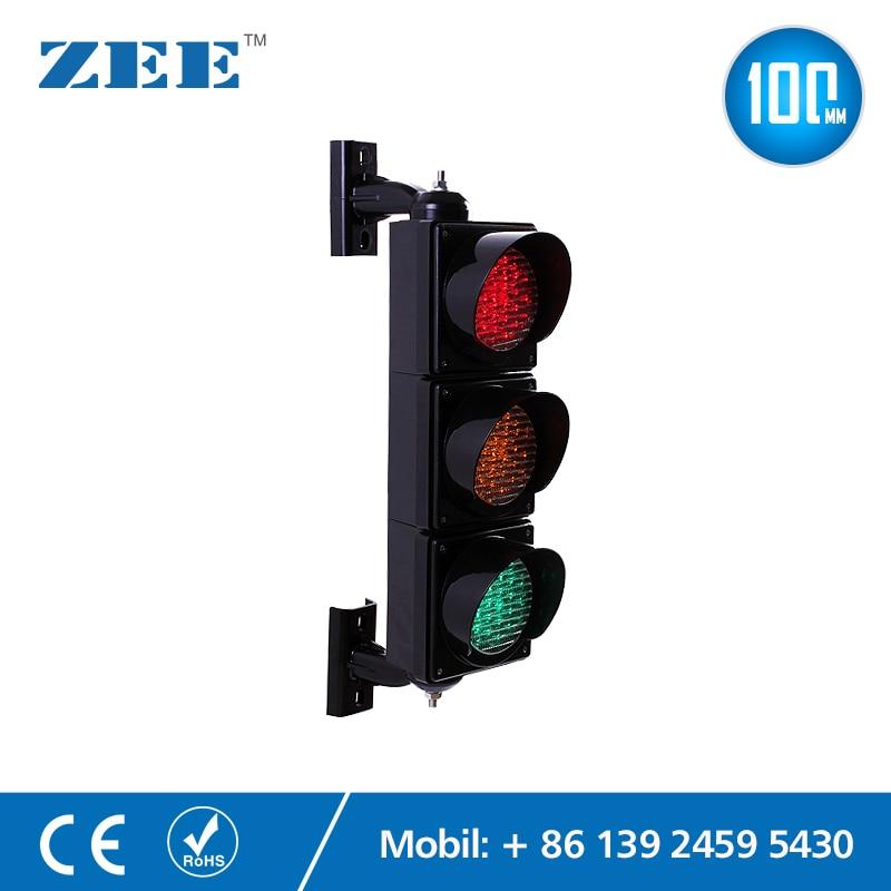 100mm LED Traffic Light Lamp Red Yellow Green Traffic Signal Light Parking Lot Signal Children Kindergarten Education