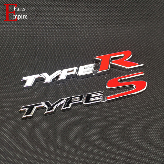 Car stickers typer type r racing emblem types type s logo metal badge for audi a4