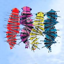 Высокое качество 3,5 м воздушный змей в виде сороконожки летающие игрушки летающий змей из ткани катушка Летающая акула для детей парашют кайт доска linha