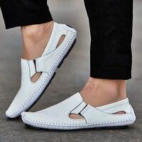URBANFIND Casual Fashion Men Leather Driving Shoes Plus Size 45 46 47 Sewing Design Men Light
