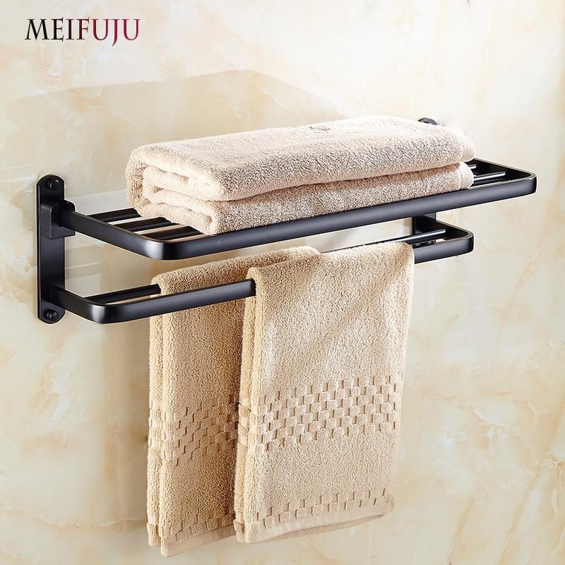 Meifuju folding aluminum towel racks bathroomtowel rack - Bathroom accessories towel racks ...