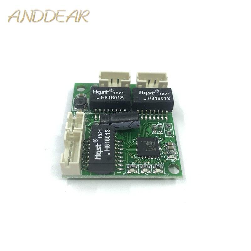 Haute température industrielle trois ports mini mini3 port 10/100 Mbps large tension micro ligne faible puissance réseau commutateur module