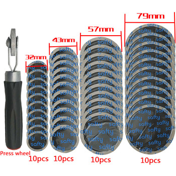 Tire repair compaction roller rubber patch vehicle and motorcycle 40pcs (32 mm plus 43 57 79mm)