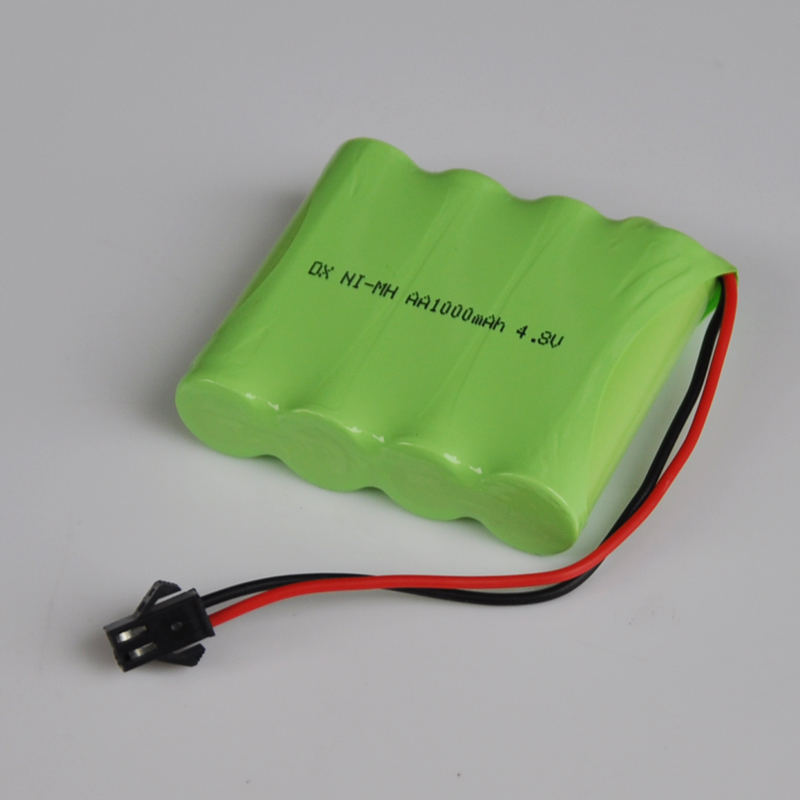 1 4pcs 4 8v Aa Rechargeable Battery Pack Sm Plug 1000mah