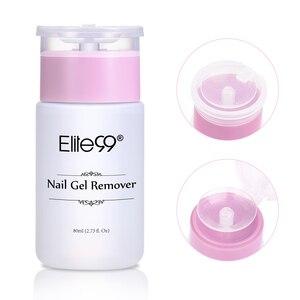 Image 1 - Elite99 dissolvant de vernis à ongles Gel UV dissolvant collant liquide nettoyant de Surface des ongles Gel excédentaire améliorer la brillance outil dart de manucure