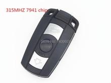 3 Buttons Remote Key FITS for BMW 1 3 5 6 Series Smart Key and E90 E91 E92 E60 7941 chip 433 315 868 MHZ CAS3 with chip