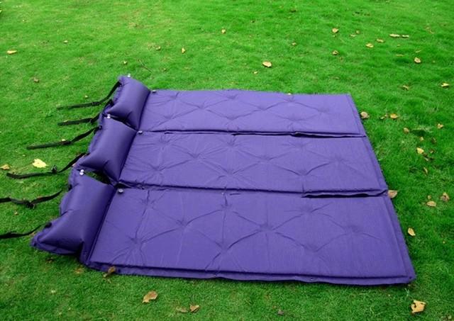 Pu automático inflable colchón inflable al aire libre de humedad pad cojines gruesos grande al aire libre tienda de campaña para dormir