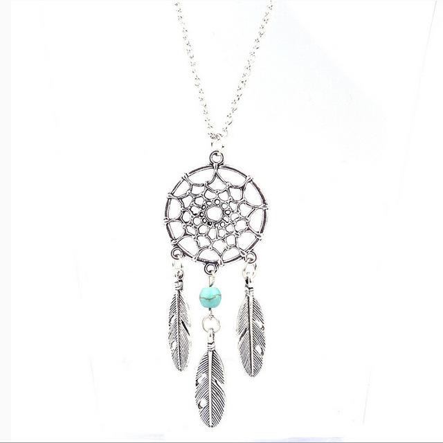 Silver Dream Catcher Necklace