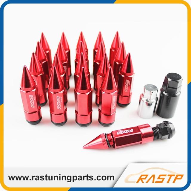 RASTP - New Design Racing Composite Nut Anti Theft Alloy Aluminum Lock Wheel Lug Nut Bolt with Spikes LS-LN038