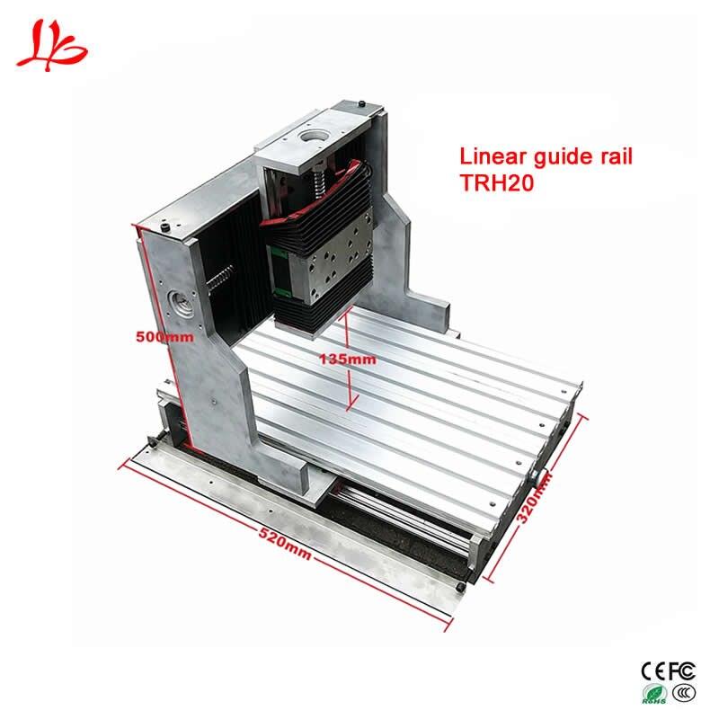 Précision CNC 3040 cadre linéaire rail de guidage TRH20 80mm broche pince pour DIY Gravure Forage Fraiseuse