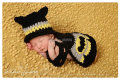 Free shipping lack Gray Bat Man Hat Eye Mask Newborn Baby Crochet Photo Prop Set NB-6M