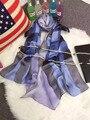 102301 22 Цвета 180x70 см 2017 женская Мода Шелковые Платки Шарф, мода Шарф, женская Шелковый шарф, прямоугольник Шарф