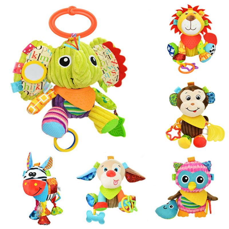 Multifunctional Colorful Cartoon Fish Rattle Baby Plush Toys Bell Infant Teether Newborn Rattle Gift 2pc Quality First Baby & Toddler Toys