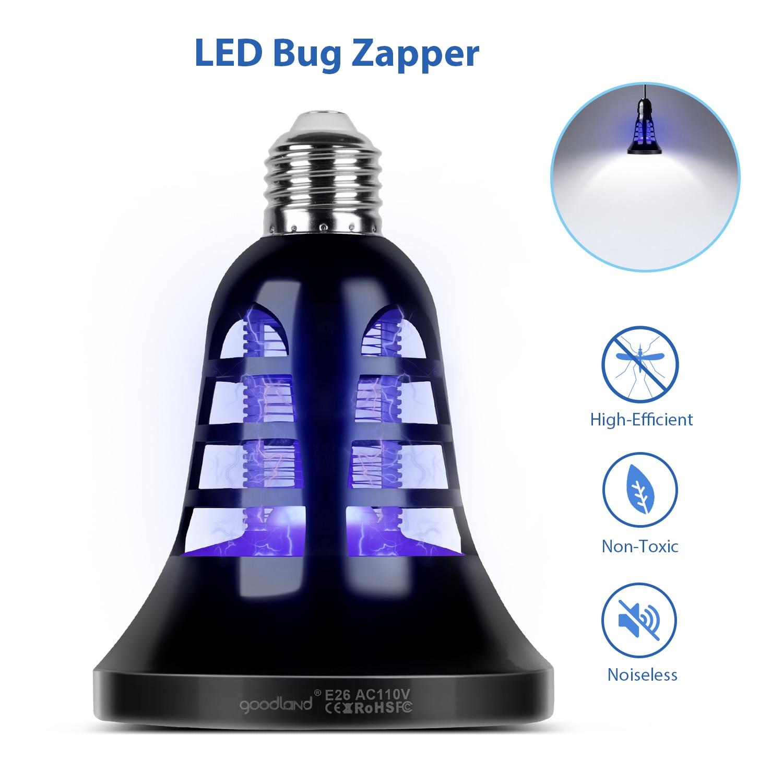 HA CONDOTTO LA Lampada Della Zanzara Dell'assassino USB Bug Zapper E27 Anti Zanzara Trappola Elettrica 8 w All'aperto repellente per Insetti Killer Per La Casa Giardino 220 v