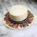 Женщины Шляпа Солнца Конфеты Цвет Соломенная Шляпа Новое Прибытие Моды Широкий большой Брим Летний Пляж Cap шерстяные шарики кости gorras snapback caps