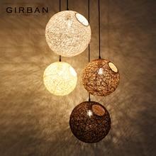Современный художественный подвесной светильник с шариками ручной работы, подвесной потолочный светильник, светильник для спальни, гостиной