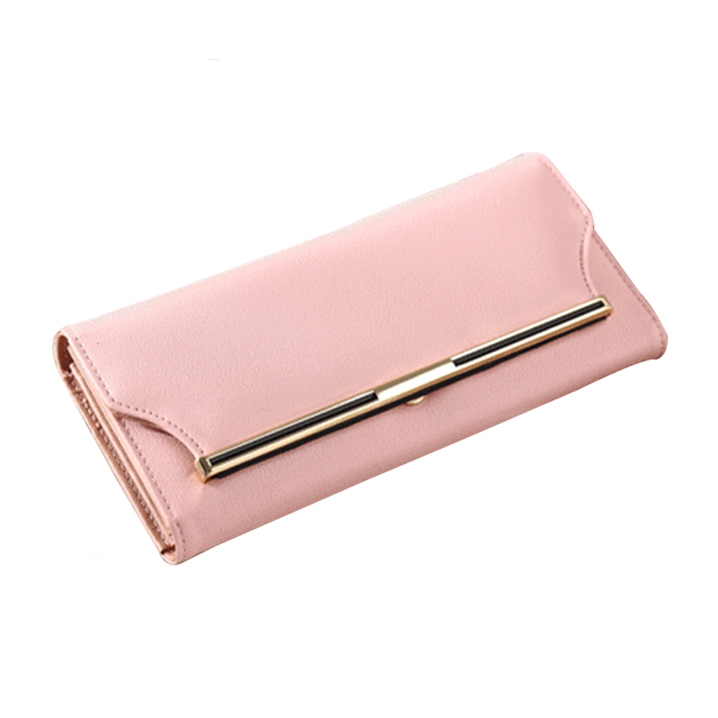Women Wallet Leather Card Coin Holder Money Clip Long Phone Clutch 2017 High Quality Dollar Price Cash Pocket Female Purse Girl luxury leather zipper women long slim wallet ladies handbag clutch card money coin phone holder portomonee female wristlet clip