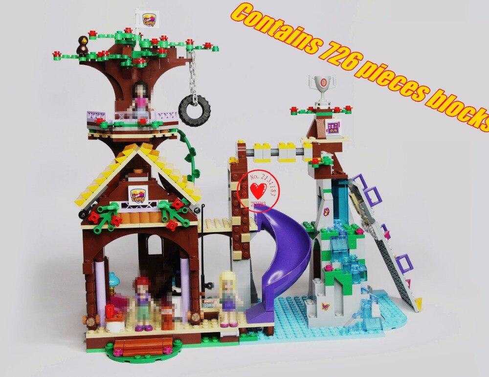 Galleria fotografica 10497 Amici Campo Avventura Tree House Modello di Edificio blocco di Mattoni modello Ragazze Toy Compatibile <font><b>legoes</b></font> amici del regalo del capretto set