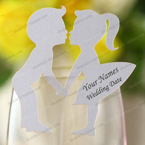 Lugar de la boda tarjetas para el vidrio de vino, tarjetas de ...