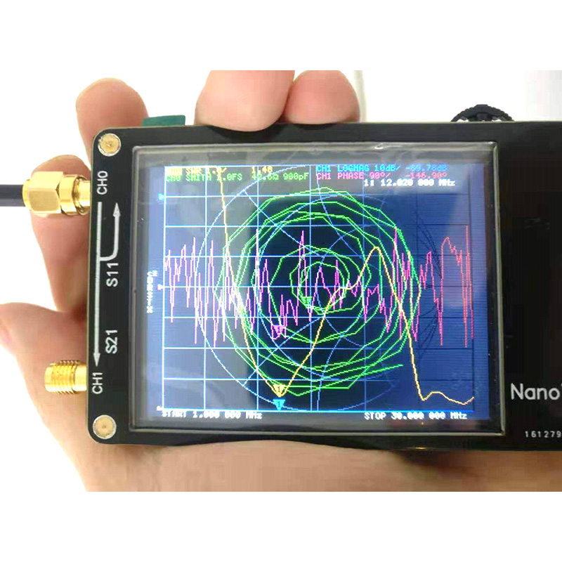NANOVNA Vector network analyzer 50K -300MHz Digital display touch screen Shortwave MF HF VHF UHF Antenna Analyzer Standing Wave