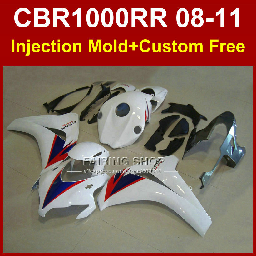 ABS plastic fairing kit  for HONDA body parts 08 09 11 CBR 1000RR blue white fairings 2008 2009 2010 2011 CBR1000  RR arashi motorcycle radiator grille protective cover grill guard protector for 2008 2009 2010 2011 honda cbr1000rr cbr 1000 rr