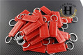 100pcs Metal Key chain Ring ALFA ROMEO Keychain Key ring for Mito 147 156 159 166 Giulietta Spider GT Car Logo emblem Badge