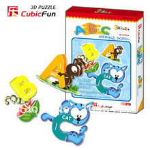 ABC Animals School CubicFun 3D educational puzzle Paper & EPS Model Papercraft Home Adornment for christmas gift