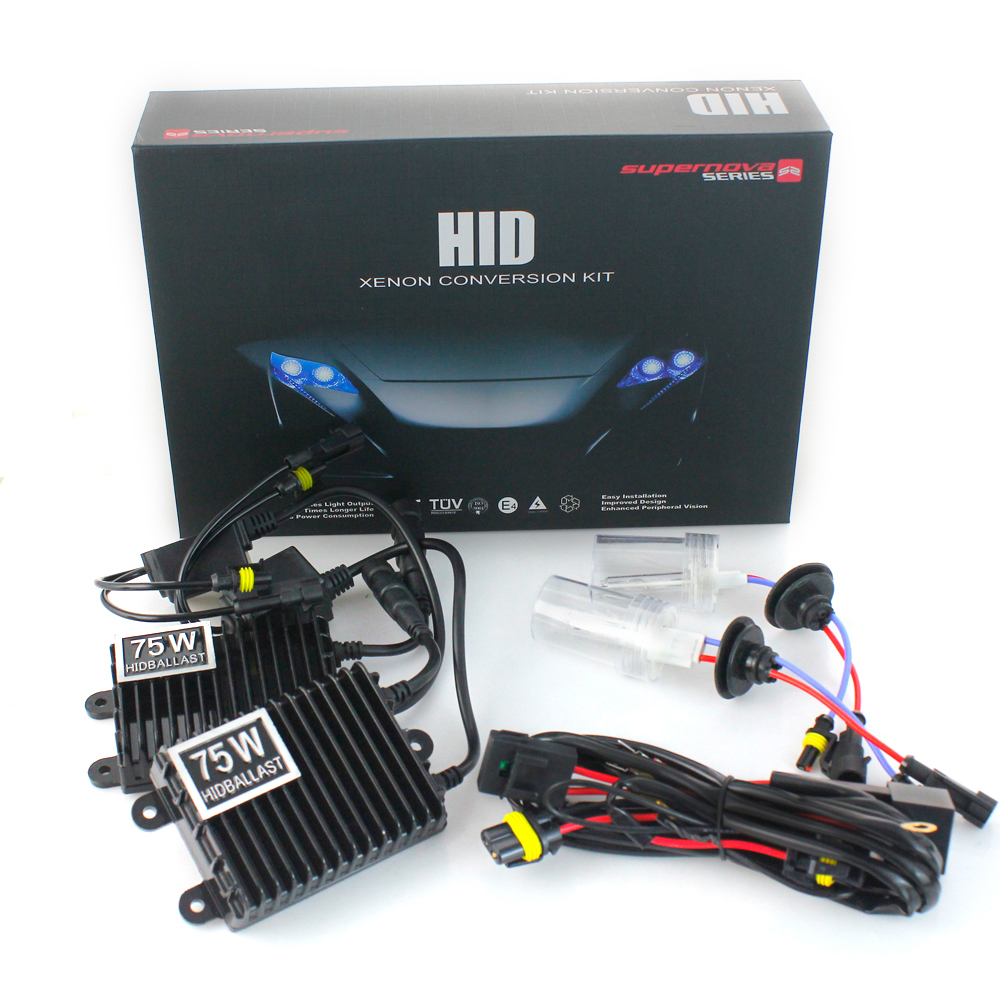 75W/100W HID Xenon Conversion Kit H1 H3 H7 H11 HB3 HB4 Single Xenon Light 3000K 4300K 5000K 6000K 8000K 10000K 12000K Car Light 9006 75w 12v car styling hid xenon bulb headlight lamp replacement auto motorcycle light source 3000k 4300k 6000k 8000k 12000k