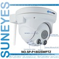 SunEyes  SP-P1802SWPTZ Full HD Wireless PTZ Dome IP Camera 1080P 2.0MP  with Pan/Tilt/Zoom TF/Micro SD Card Slot  Low Lux ONVIF