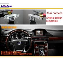Liislee Car Rear View Back Up Reverse Camera Sets For Volvo S80 S80L 2012 2013 2014 / Night Vision / Original Screen Compatible