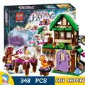 348pcs Elves The Starlight Inn Sira Copper Azari Fire dancer 10502 Model Building Blocks Kids Toys Bricks Compatible With Lego