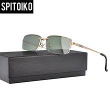 2423f9dd488 SPITOIKO Men Polarized Magnetic Clip On Sunglasses Metal Optical Frame Half  Rim Magnet Myopia Glasses Frame