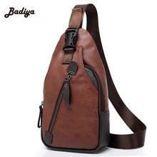 new 2016 leather men bag fashion casual high quality men chest pack shoulder bag messenger bag travel small bag