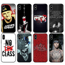 Black tpu case for iphone 5 5s se 6 6s 7 8 plus x 10 case silicone cover for iphone XR XS MAX case Mgk Machine Gun Kelly Lace Up(China)