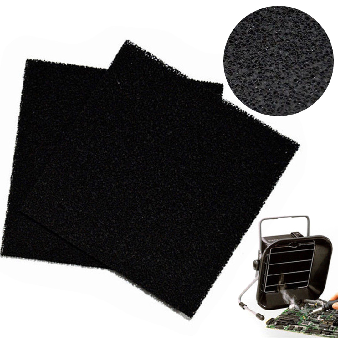 5Pcs/Set Activated Carbon Filter Sponge Black Polyurethane Foam Solder Smoke Absorber ESD Fume Extractor Accessories 13cm