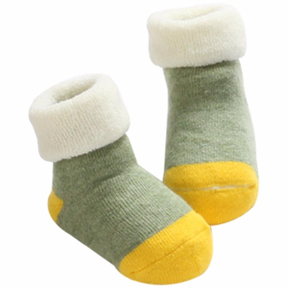 Hilfreich Baumwolle Baby Socken Neugeborenen Anti Slip Boden Socken Baby Jungen Kurze Socken Meia Bebe; Winter Warme Socken Dicke Kinder Calcetines GroßEs Sortiment