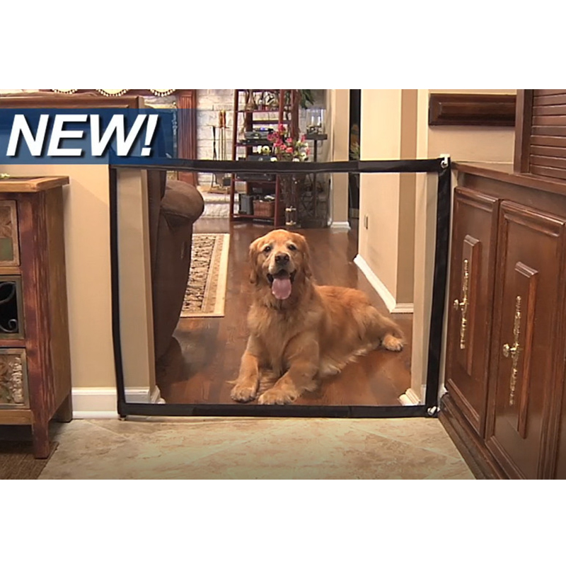 Baby Safe Doorways Dog Gate The Ingenious Mesh Magic Pet Gate Portable Folding Safe Guard And Install Pet Dog Baby Safety Fences in Gates Doorways from Mother Kids