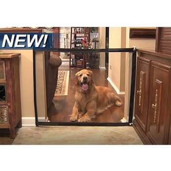 Baby Safe Doorways Dog Gate The Ingenious Mesh Magic Pet Portable Folding Guard And Install Safety Fences