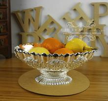 Цветочные резные тиснением сплава металла вазу с фруктами лоток для хранения стол сахар декоративные лоток украшения дома свадебные украшения SG097