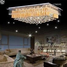 Новый Современные Хрустальные Светильники Кристалл K9 Подвесной светильник Спальня Потолочные светильники Высококлассные атмосфера L600xW400xH350mm