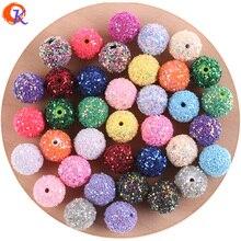 Cordial Design en perles acryliques 12 à 20mm, paillettes sur perles rondes, fait à la main, bricolage, perles épaisses, boucles doreilles, fabrication de bijoux