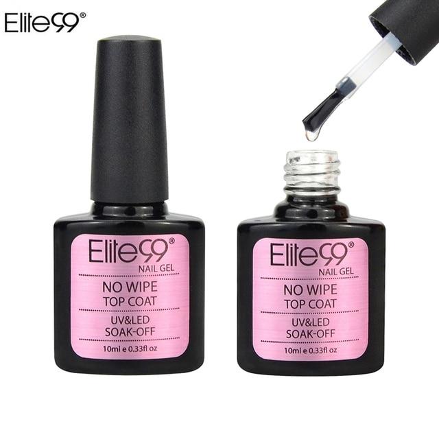 Elite99 soak off No limpie Esmaltes de capa superior UV Esmaltes gel ...