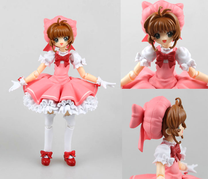 Anime Cardcaptor Sakura Figma 244 Kinomoto Sakura PVC Action Figure Collectible Model Toy 14cm kids toys for girls metal gear solid action figure sons of liberty figma 298 soldier pvc toy 16cm anime games figures snake collectible model doll