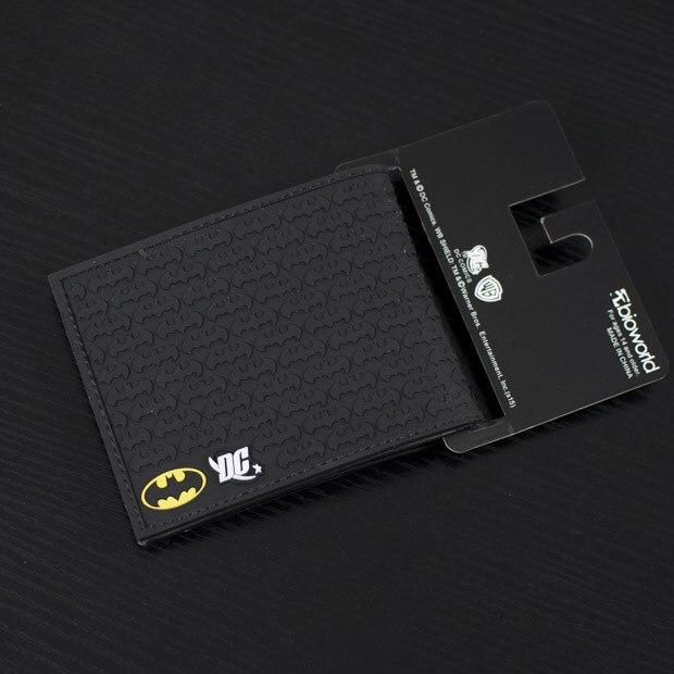 Комиксы DC чудо лето стиль мужчины бумажник пвх бэтмен аниме кошелек сумочка черный цвет мягкий человек мода коллекция подарков кошельки