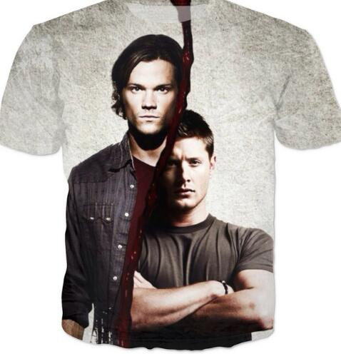 Dean Tees Keep Calm Tops Supernatural Sam Winchester T-shirt Women Clothing Casual Outfits ...
